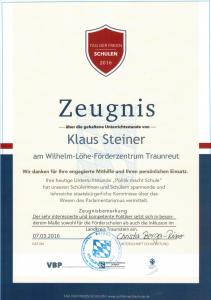 MdL Steiner_Wilhelm Löhe Traunstein_Zeugnis